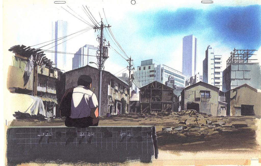 © Hirosama Ogura, finaler Hintergrund für Patlabor: The Movie, 1989