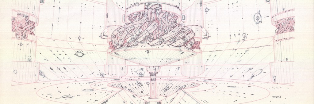 © Takashi Watabe, Layout Evangelion: 2.0 You Can (Not) Advance (Ausschnitt), Bleistift auf Papier