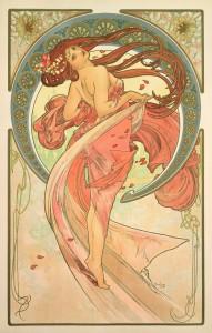 Alphonse Mucha: DIE KÜNSTE - TANZ Wandpaneele/Litho. 1898  © Mucha Trust 2013